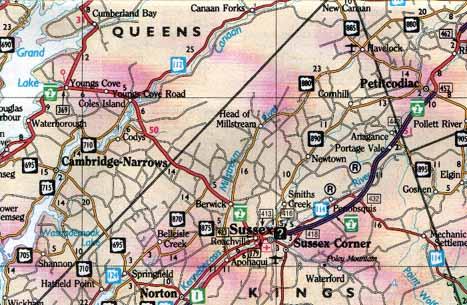 Road Map New Brunswick Canada New Brunswick, Canada, Road Map, 1999